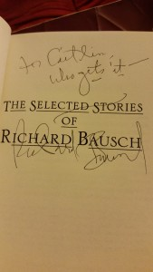 I get it. Richard Bausch says I get it.